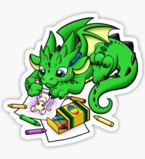 Dragon Coloring Sticker