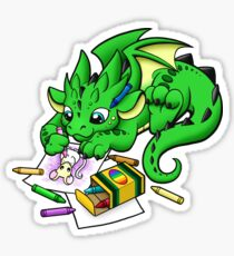 Dragon Coloring Sticker