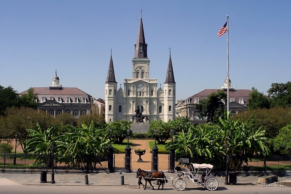 St. Louis Cathedral by Scarlett