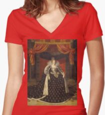 Frans Ii Pourbus - Marie De Medicis, Consort Of Henry Iv, King Of France, 1620 Women's Fitted V-Neck T-Shirt