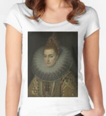 Frans Ii Pourbus - Isabella Clara Eugenia Women's Fitted Scoop T-Shirt