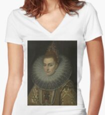 Frans Ii Pourbus - Isabella Clara Eugenia Women's Fitted V-Neck T-Shirt