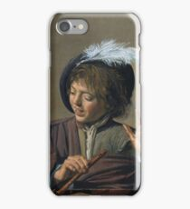 Frans Hals - Singing Boy With A Flute iPhone Case/Skin