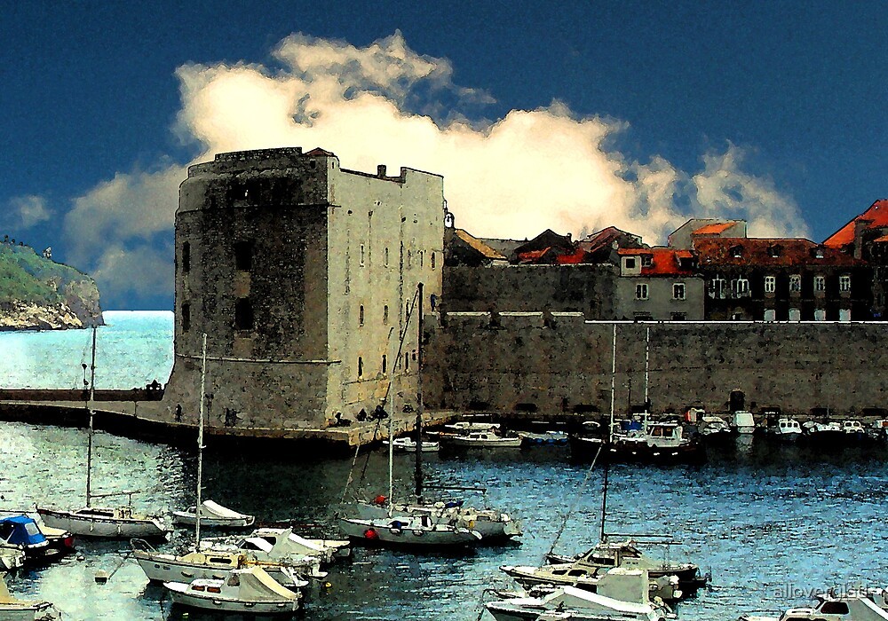 Dubrovnik harbour  by alloverglad