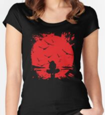 Blood moon Itachi,Naruto Women's Fitted Scoop T-Shirt