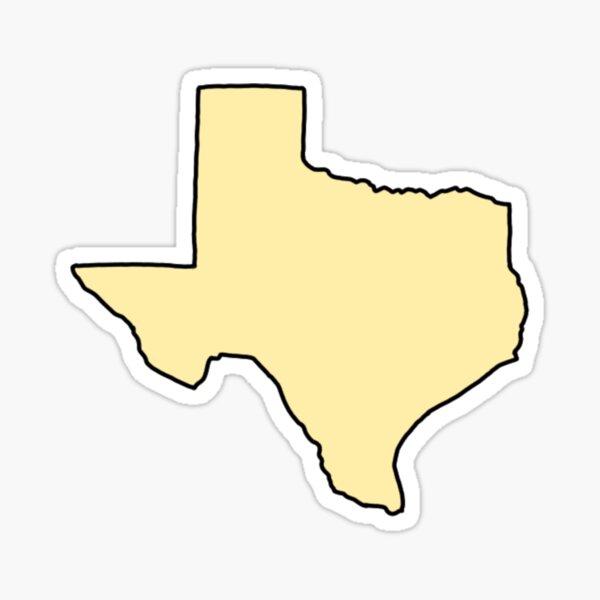 cute yellow texas Sticker