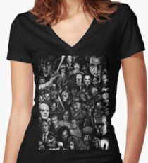 Classic Horror Movies Women's Fitted V-Neck T-Shirt