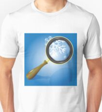 snow flake and magnifying glass Unisex T-Shirt