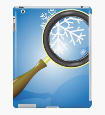 snow flake and magnifying glass iPad Case/Skin