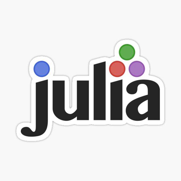 julia programming language Pegatina