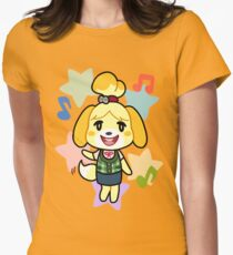 Isabelle of Animal Crossing Women's Fitted T-Shirt