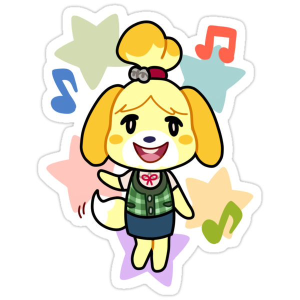 """""""Isabelle of Animal Crossing"""" Stickers by 2ll2l   Redbubble"""