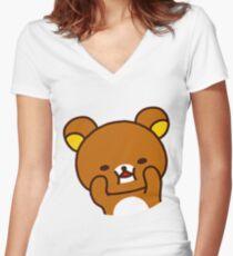 Rilakkuma - Squish Women's Fitted V-Neck T-Shirt