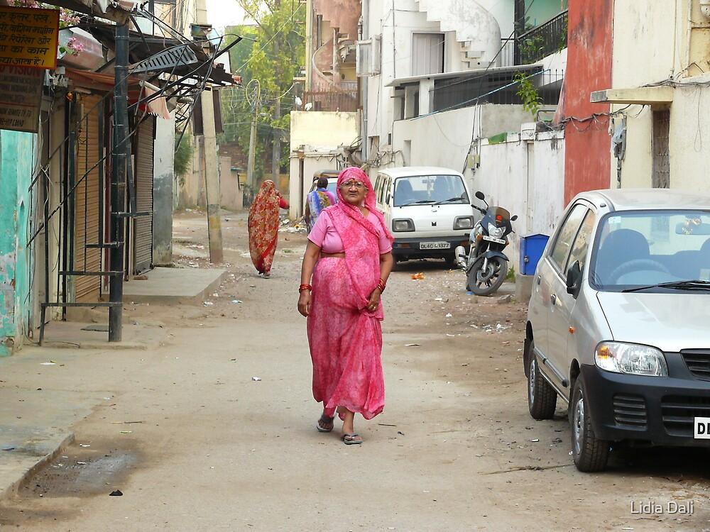Walking on the Street, Delhi by Lidiya