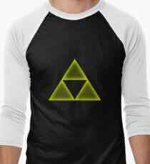 Yellow Triforce Men's Baseball ¾ T-Shirt