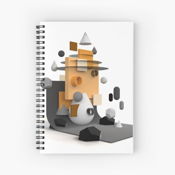 ShapeScape Spiral Notebook