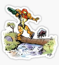 Samus and Metroid Sticker