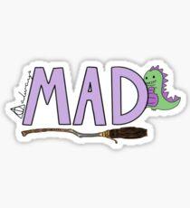 mrs a's initials - MAD Sticker