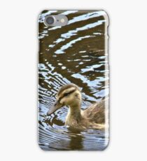 Duckling Swimming iPhone Case/Skin