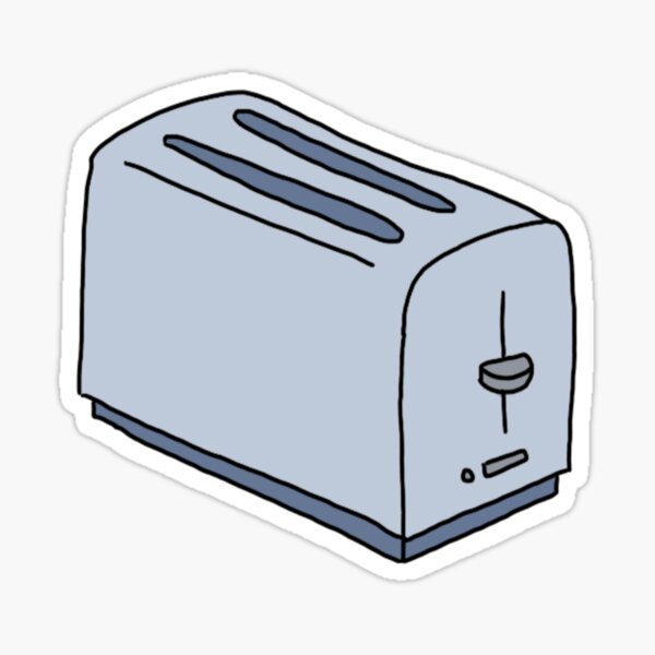 happy little toaster Sticker
