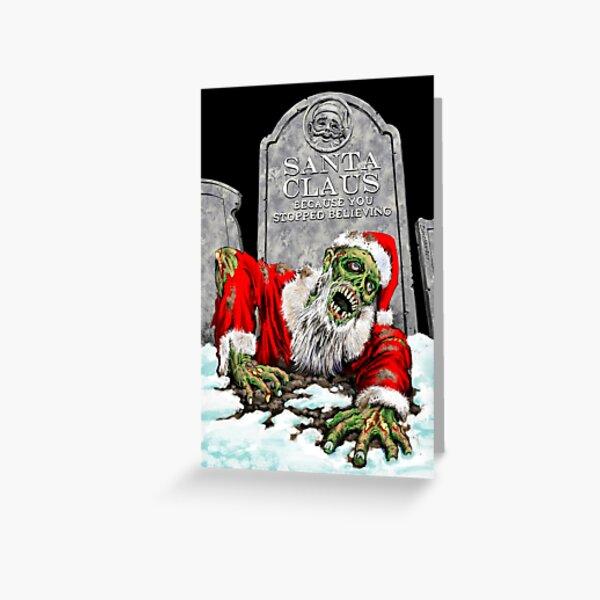 Zombie Santa Rises Greeting Card