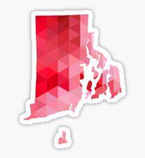 RI - Geometric Red Sticker