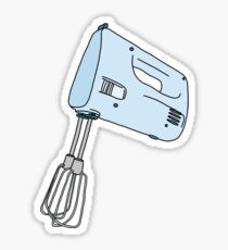 blue hand mixer Sticker