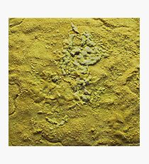 Yellow Abstract Salt Painting Photographic Print