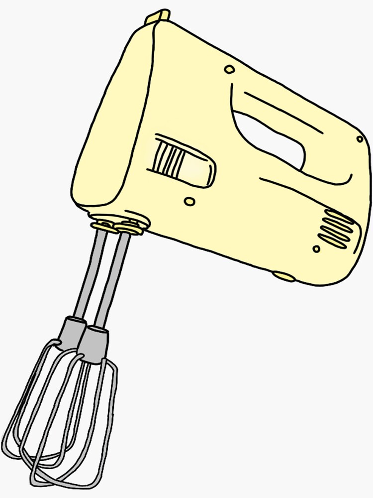 yellow hand mixer by andilynnf