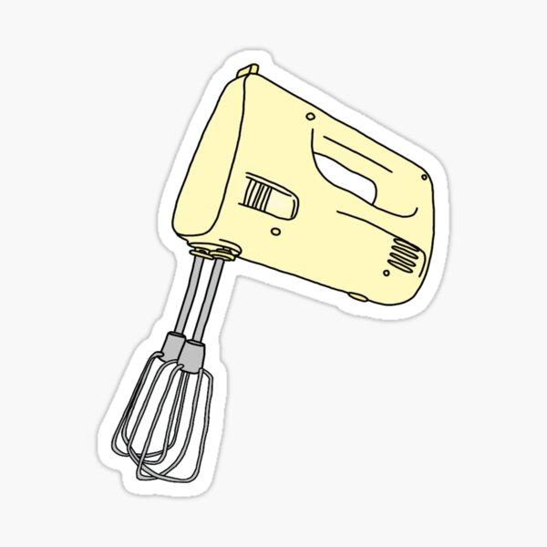 yellow hand mixer Sticker