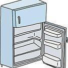 blue open fridge by andilynnf