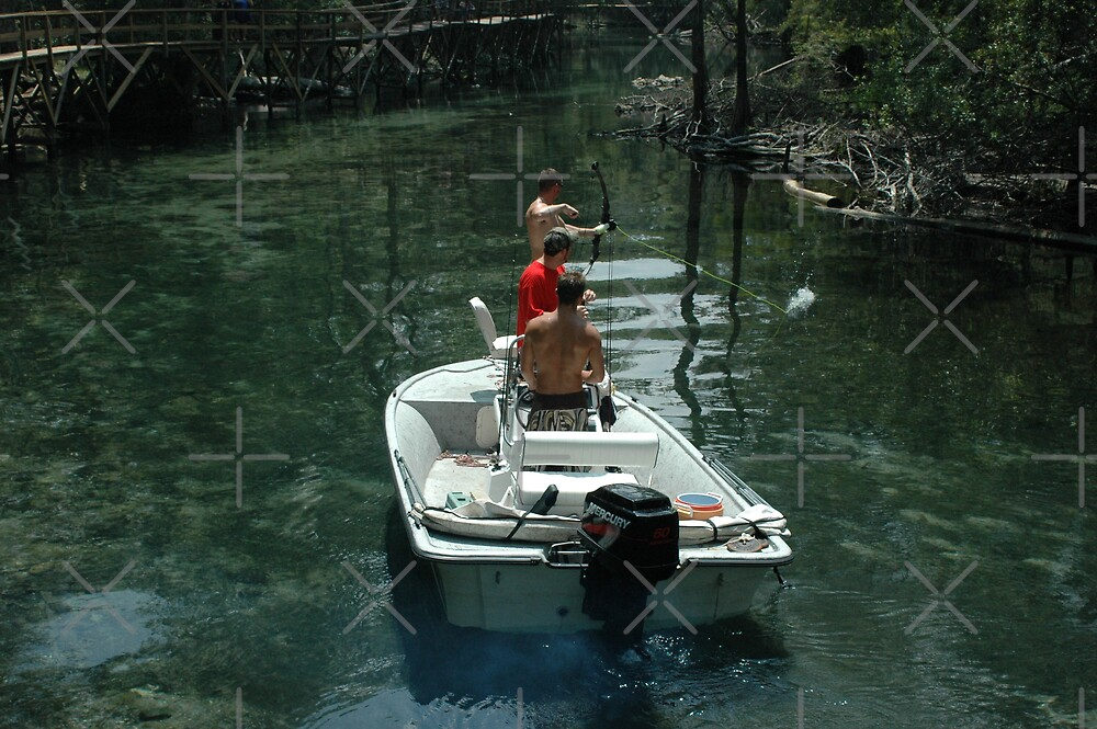 Bow Fishing on the Spring Run by Stacey Lynn Payne