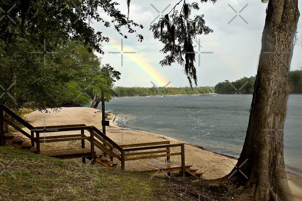 Rainbow over the River by Stacey Lynn Payne