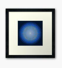 Star Blue Framed Print