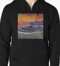 Ocean Sunset  Zipped Hoodie
