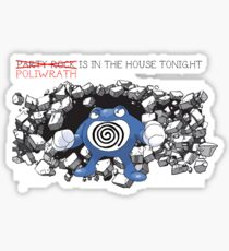 "Pokemon ""Poliwrath is in the house"" Sticker"