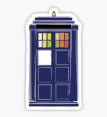 Allons-y! Time Travel Box Sticker