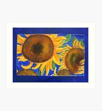 Sunflower blue Art Print