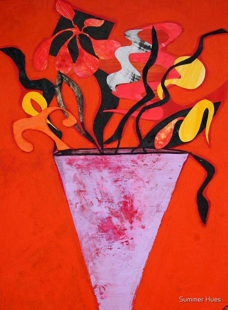 Vase flowers by Summer Hues