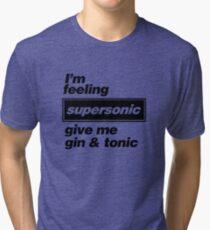 Oasis - Supersonic Lyrics design Tri-blend T-Shirt