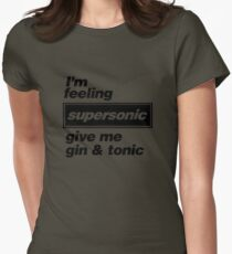 Oasis - Supersonic Lyrics design Womens Fitted T-Shirt