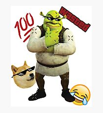 MLG SHREK Photographic Print
