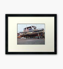 Derelict fishing boat Framed Print