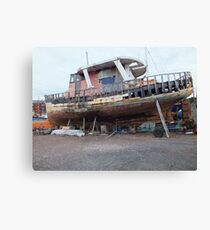 Derelict fishing boat Canvas Print