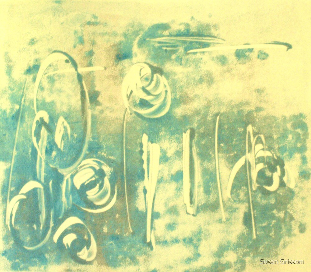 Aqua Monotype No 2 by Susan Grissom