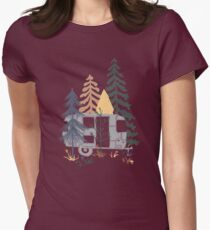 Wild Airstream... Womens Fitted T-Shirt