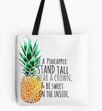 Be a Pineapple Plain Tote Bag