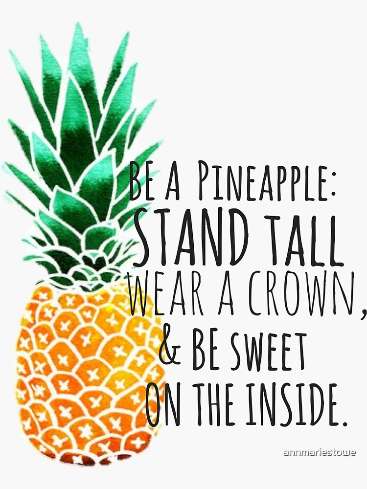 Sei eine Ananas-Ebene von annmariestowe