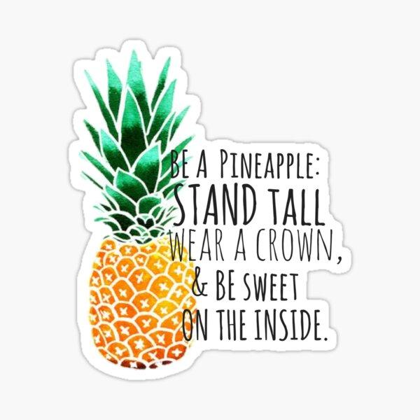 Sei eine Ananas-Ebene Sticker