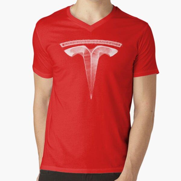 Tesla Fan Art - The Future V-Neck T-Shirt